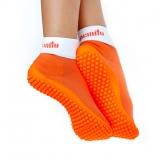 Носочки на резиновой подошве leguanito orange (оранжевый)